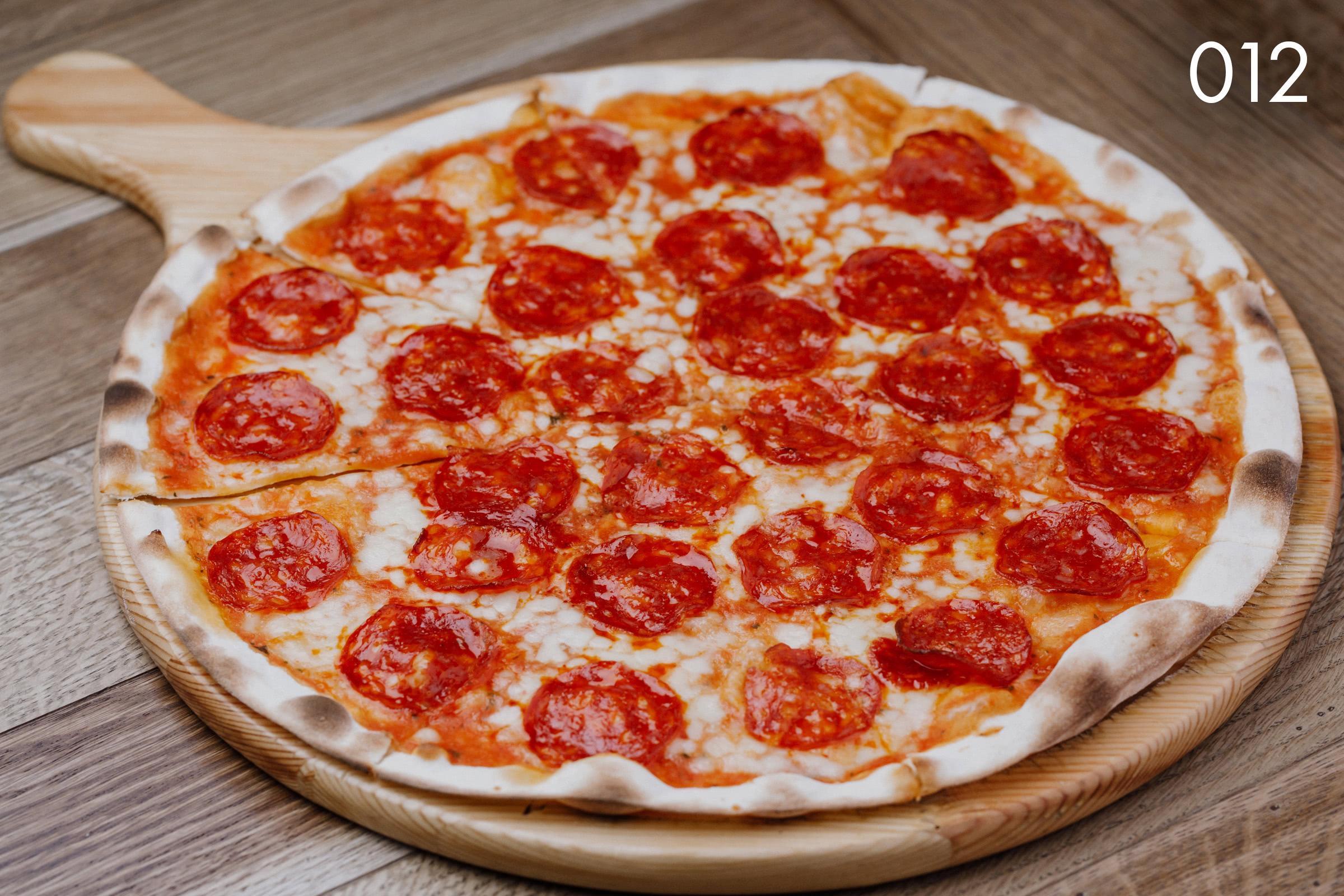 тосканская пицца дьяволо в ресторане Веранда