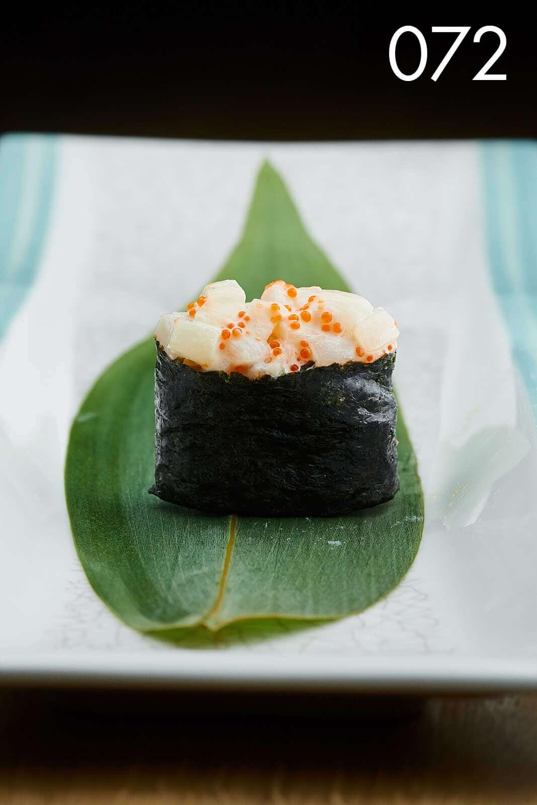 суши феликс с гребешком в ресторане Веранда